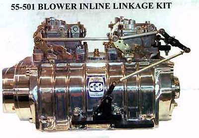Mount your dual carburetors inline using R trick blower supercharger linkage kit