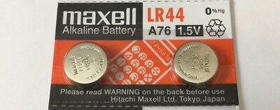 2 PC MAXELL LR44 AG13 A76 L1154 AG13 357 battery FAST