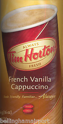 Tim Hortons French Vanilla Cappuccino One Pound Cans FASTSHIP! INTL ALSO!