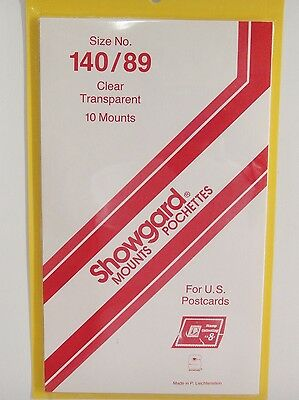 Showgard Clear 140/89 Post Card Stamp Mounts (m38)