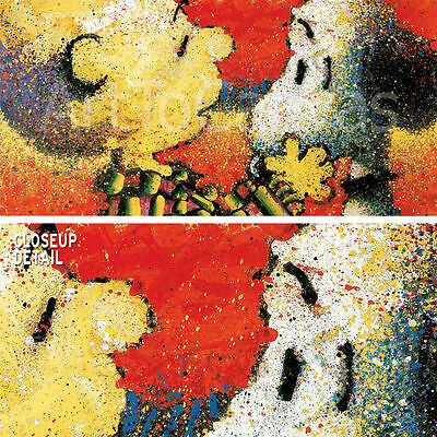 "32""x16"" DOG BREATH by TOM EVERHART PEANUTS GANG CHARLIE BROWN CANVAS"