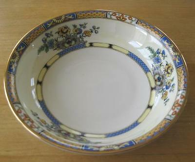 ROYAL BAYREUTH Blue Yellow Floral Flowers Fruit Bowl