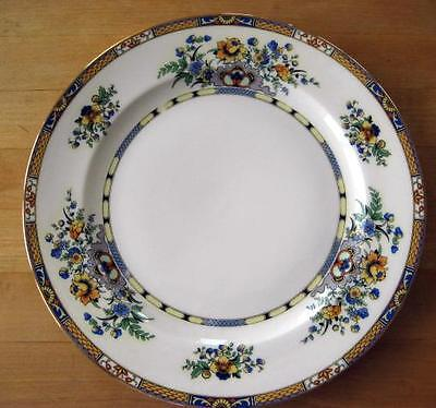 ROYAL BAYREUTH Blue Yellow Floral Flowers Bread Plate