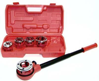 Ratchet Pipe Threader  With Handle And 5 Stock Dies Handheld Cmt Plumbing Tools