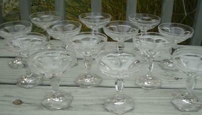 HEISEY CRYSTAL GLASS Priscilla 351 TALL GOBLET SHERBETS