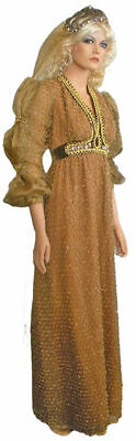 Lovely Brown & Gold Juliette Dress Costume With Cap