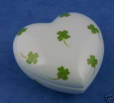 """French Chamart Limoge /""""Red Hearts 2 /"""" Heart Trinket Box Valentines Day Gift"""