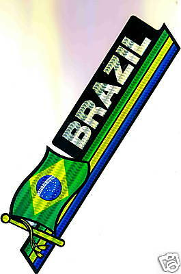 Brazil Flag Bumper Sticker NEW