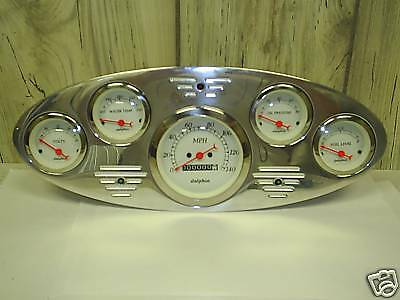 34 FORD TRUCK GAUGE CLUSTER WHITE