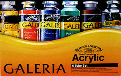 Winsor & Newton Galeria Acrylic - 6 x 60ml Tube Set