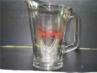 Budweiser Glass Pitcher Bowtie Logo