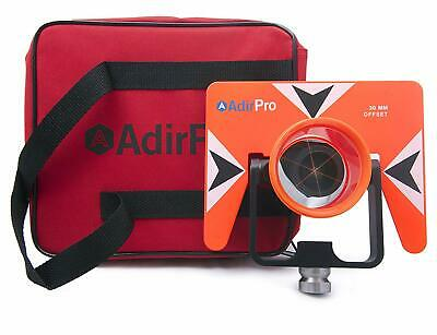 AdirPro All-Metal Single Tilt Prism with Case fits all Total Stations Surveying