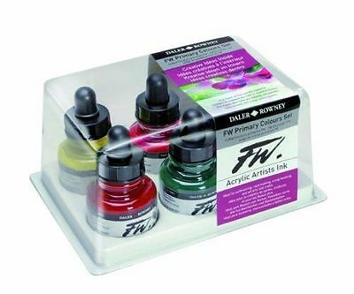 Daler Rowney FW Ink 6 x Primary Colours Set