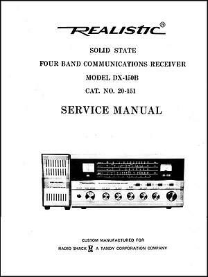 Realistic DX-150B Receiver Service Manual