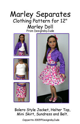 """Separates Doll Clothes Sewing Pattern 12"""" Marley & 14"""" Patience Tonner"""