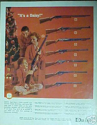 1964 Daisy B-B Gun~Woodstock~Pump~Mom~Dad~Boy Kids Toy Christmas Ad