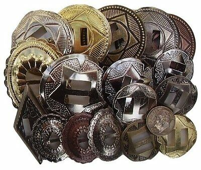 Conchos Grab Bag! Mixed Sizes Assorted 50 Pcs