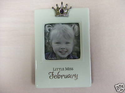 BIRTHSTONE/CROWN/MONTH CERAMIC PICTURE FRAME-GIRLS-NWT