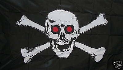 3'x5' Polyester Pirate Flag Skull & Crossbones NEW
