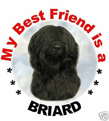 2 Black Briard Car Stickers By Starprint