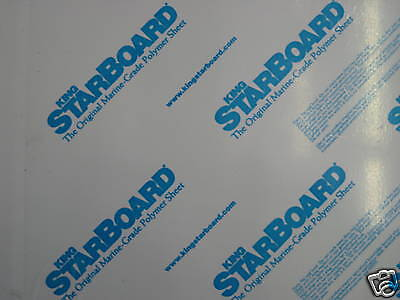 "3/4"" X 12"" X 54""  White King Starboard Polymer Hdpe Marine Sea Board Free Ship"