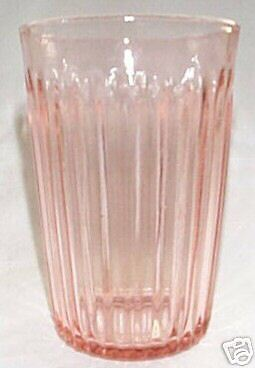 Old Colony Lace Edge Pink 9-Ounce Flat Water Tumbler!