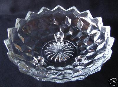 COLONY / INDIANA GLASS WHITEHALL 3 FOOTED BOWL  6""