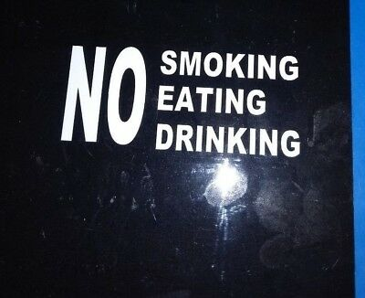 NO SMOKING EATING DRINK TAXI WINDOW STICKERS (set of 3)
