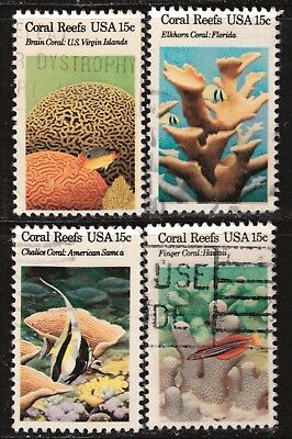 Scott #1827-30 Used Set of 4, Coral Reefs