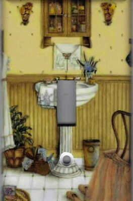 Ladies Vintage Bathroom Home Decor Single Light Switch Plate Cover