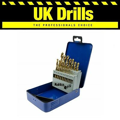 19Pc Piece Hss Drill Bits 1Mm - 10Mm Titanium Metal Set - Lowest Price!!