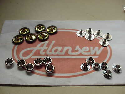 50 COMPLETE SETS OF BRITISH MADE POPPER SETS for ANORAKS etc,etc.