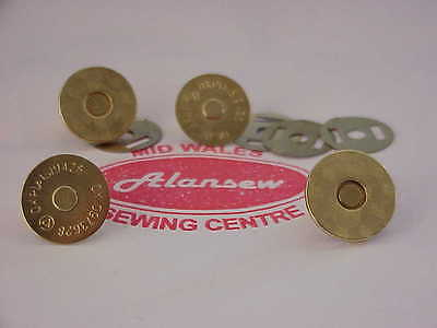 2 SETS BRASS Effect 19mm STRONG MAGNETIC CATCHES for HANDBAGS ETC