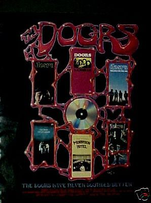 1988 Doors Rock & Roll Music Records,CDs,Tapes Paper AD