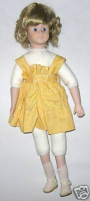 """Doll -  Sporty Yellow Outfit on Blond 16"""" Doll"""