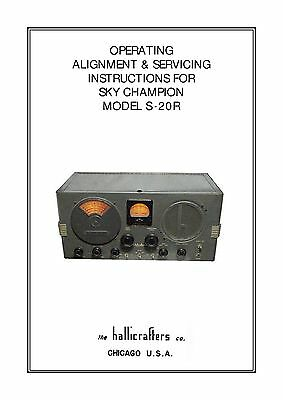 Hallicrafters S-20R Operator's/Service  Manual S20R