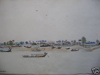 India Fishermans Village Hoogly  W/col 1873 A.h.walter