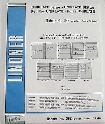 Lindner Uniplate Clear Stock Sheets #82 2 Vertical Pockets 5 Pages