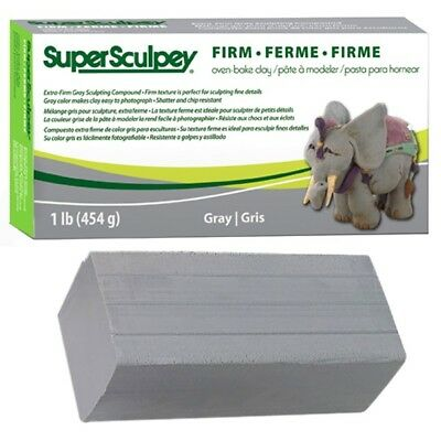 Super Sculpey FIRM GREY Polymer Clay 1lb = 454g
