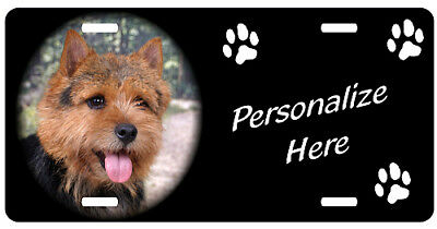 Norwich Terrier   Personalized    Automobile Pet License