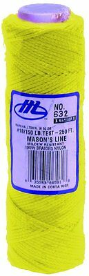 Marshalltown 76m 250ft HI-VIZ YELLOW #18 Braided Mason Brick Line M632 M/TM632