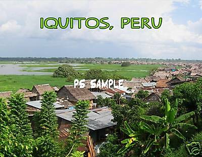 Peru - IQUITOS #1 - travel souvenir flexible fridge magnet