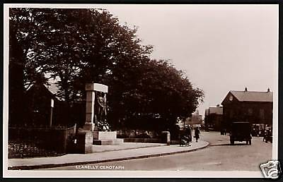 Llanelly near Burry Port & Swansea.The Cenotaph.
