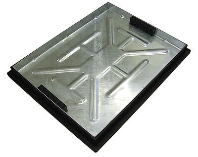 Recessed Manhole Cover and Frame 600 x 450 x 46mm (Sealed with Rubber Gasket)