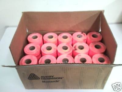 Genuine Monarch 1110 Fluorescent Red Labels One Box