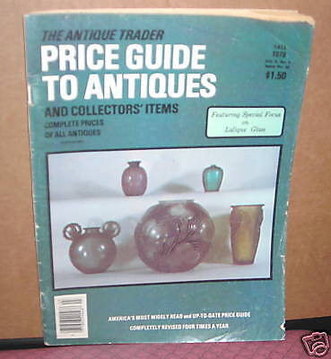 The Antique Trader Price Guide To Antiques Fall 1979 Fc