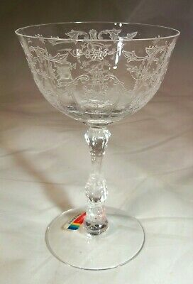 Fostoria Navarre Crystal 6-Ounce Saucer Champagne!