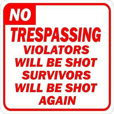 No Trespassing Security Sign More Novelty Signs Avail