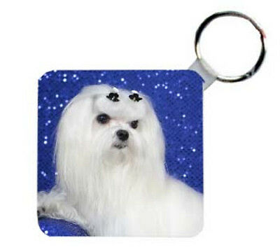 Maltese    Personalized   Breed  Key  Chain