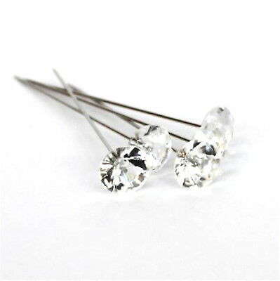10 Diamantie Lapel Pins For Corsage's, Button Holes Etc